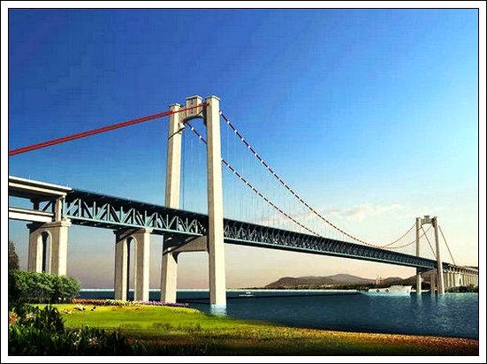 【七律】五峰山长江大桥