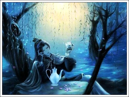 对联:寂寞诗人吟冷月